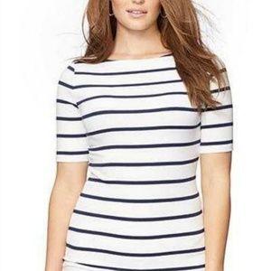 LAUREN Ralph Lauren Plus Size Striped Cotton 3x